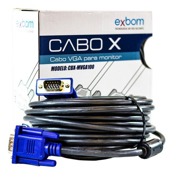 Cabo Vga Blindado Para Monitor Lcd Pc Tv Projetor -10 Metros