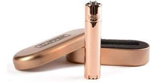 Encendedor Clipper Metal Rose Gold Recargable C/ Estuche