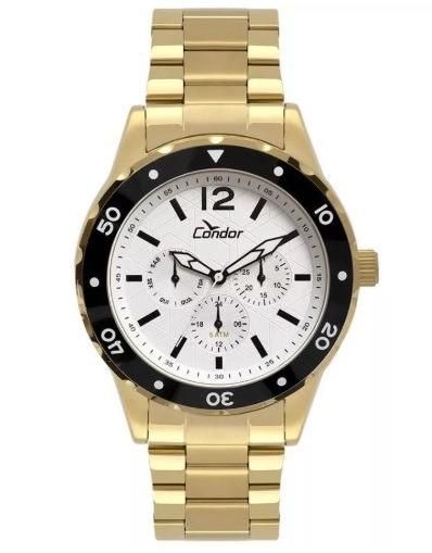 Relógio Masculino Dourado Condor Original Co6p29ip/4b