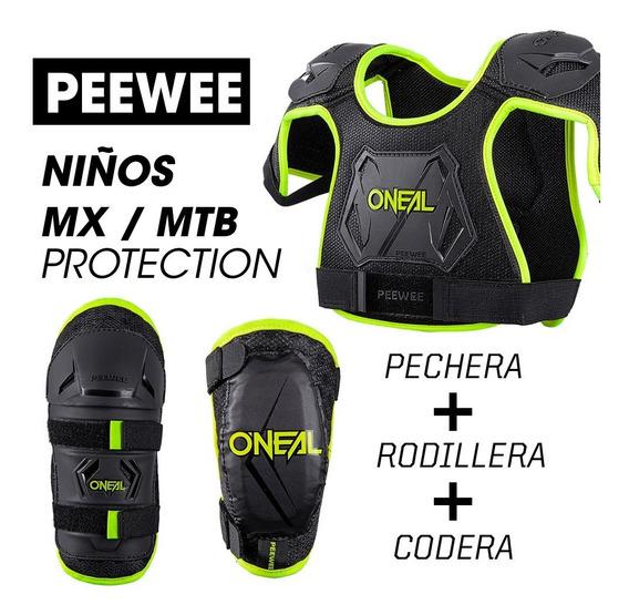 Combo Niños O´neal Mx Mtb: Codera + Rodillera + Pechera
