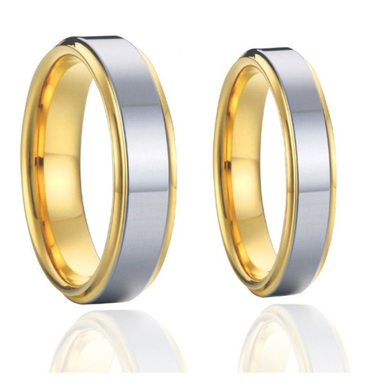 Anéis Alianças Casamento Noivado Banhada A Ouro 18k
