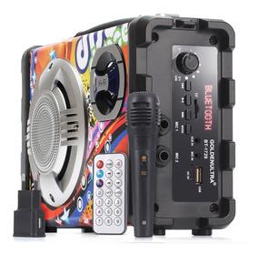 Caixa Caixinha De Som Bluetooth Portátil Bt1728 Amplificada
