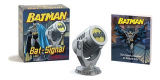 Mini Lampara Bati-señal Batman De Colección + Libreto