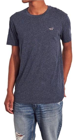 Camiseta Camisa Hollister Logo Slim Grafite Original
