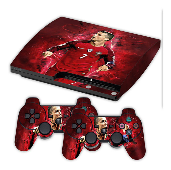 Skin Ps3 Slim Cristiano Ronaldo Cr7