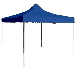 Toldo Azul 3x3 M Plegable Reforzado Impermeable 15 Kg