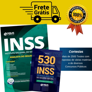 Apostila Analista Inss 2019 + Caderno De Questões Comentadas