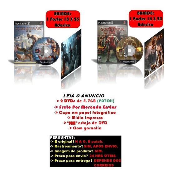 Kit God Of War 1 + God Of War 2 + Brindes Para Ps2