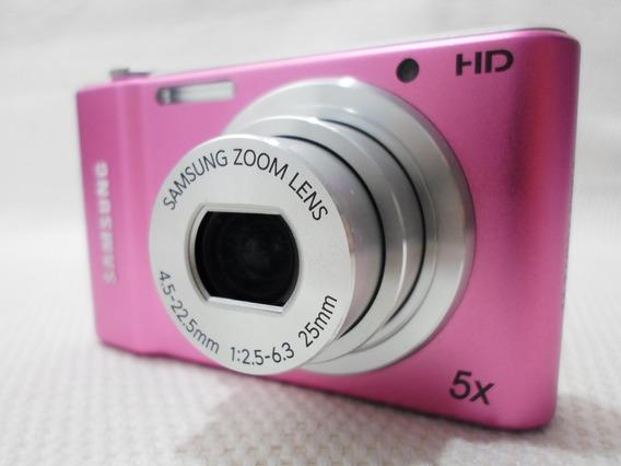 Câmera Máquina Digital Samsung St64 St 64 Rosa - Usada