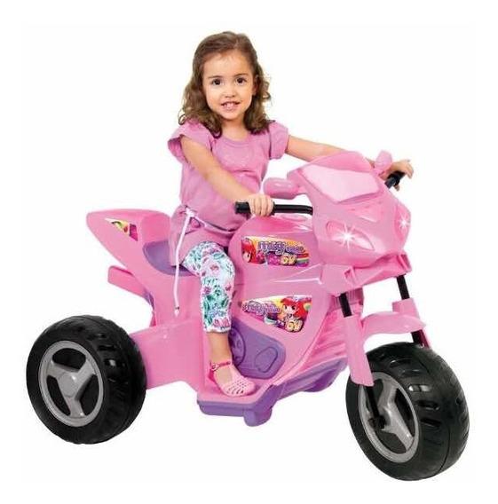 Moto Motoca Elétrica Infantil Rosa Magic Toys 1230 L