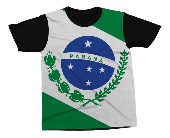 Camiseta Paraná Estado Brasil Bandeira Símbolo Blusa Camisa
