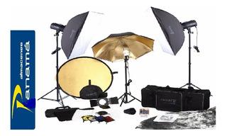 Kit Completo De Fotofrafia Incluye Parasoles + Luces