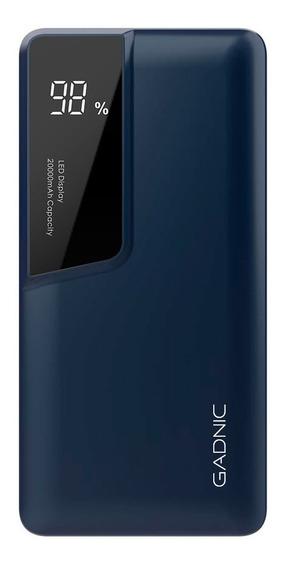Power Bank Gadnic Con Display Metalico Celular 20000 Mah