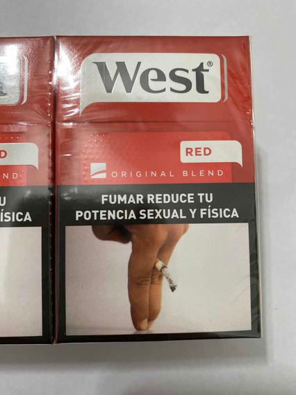 Cigarrillos West Box 20 Red Original Blend Pack Por 10