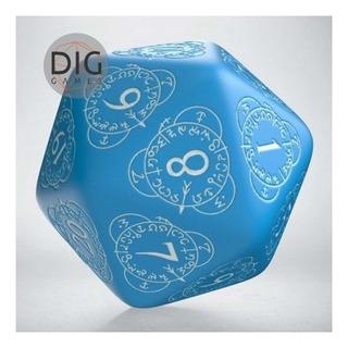 Dado D20 Level Counter Blue & White D&d Q Workshop Dice