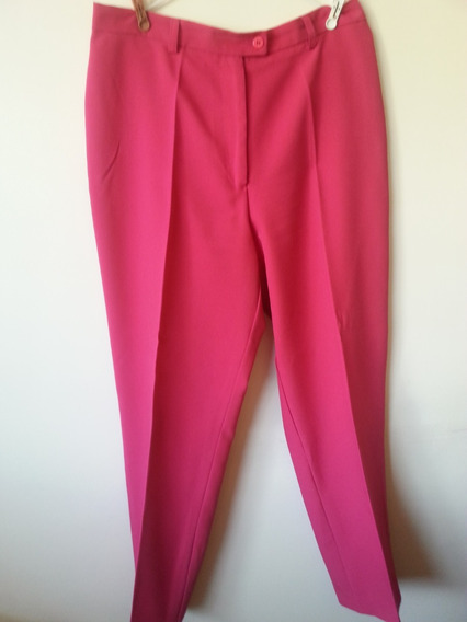 Pantalon Para Dama Rosado Fucsia Talla 14 De Vestir