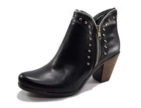 Zapatos Mujer Botineta Tipo Bota Texana Art 5008