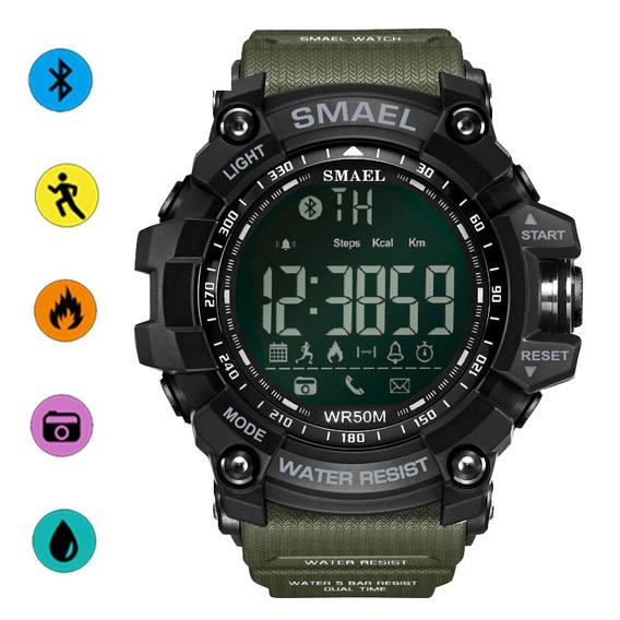 Reloj Bluetooth Smael Podómetro Calorías Consumo Deportivo