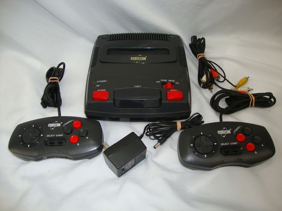 Antigo Video Game Geniecom Nintendo 72 Pinos **defeito**