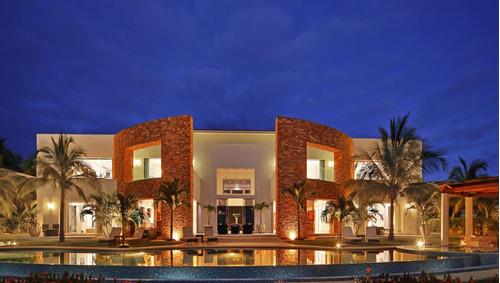 Imagen 1 de 14 de Casa En Venta, Frente A Playa, Riviera Nayarit $6,500,000usd