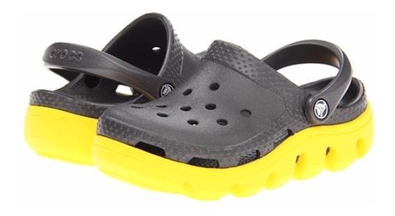 Crocs Duet Sport Niños Zueco De Goma Original Colores Olivos