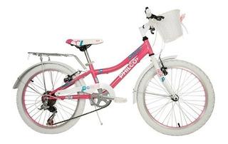 Bicicleta De Niña Rodado 20 Philco Color Rosa Tio Musa