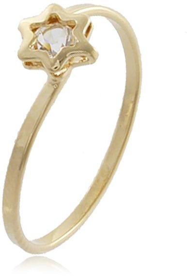 Anel Falange Estrela Folheado Ouro 18k - Oferta