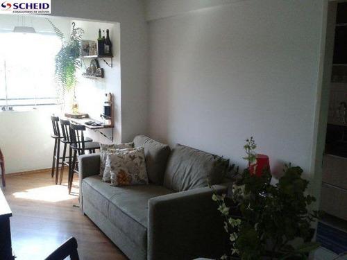 Imagem 1 de 15 de Apto Com 60 M², 2 Dormitórios, Sala, Cozinha, Banheiro,área De Serviço. Garagem. - Mc1486
