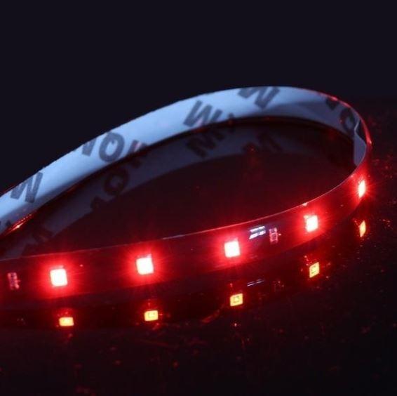 Tiras Led Par Carro Moto Barra 30cm Luz Roja