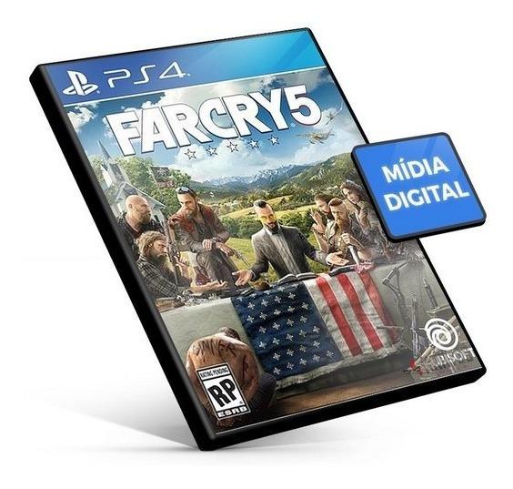 Far Cry 5 4 3_mídia Digital_ps4_conjunto Com 3 Jogos
