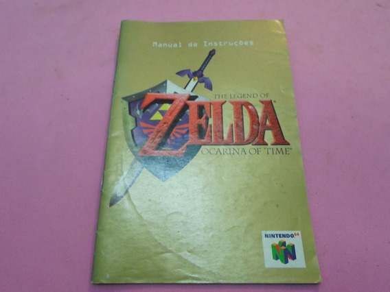 Manual Original Do Jogo Zelda Ocarina Of Time Nintendo 64