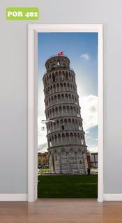 1 Adesivo Decorativo Porta Jb Torre De Pisa Itália Mod. 482