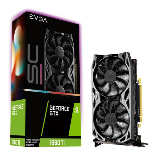 Tarjeta De Vídeo Evga Geforce Gtx 1660 Ti Sc Ultra Gaming