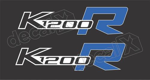 Emblema Adesivo Bmw K1200r Branca Par Bwk1200r03