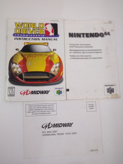 Manual Do Jogo World Driver Championship (nintendo 64)