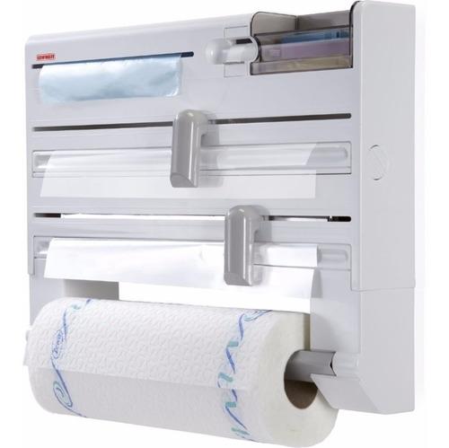 Imagen 1 de 9 de Dispenser Portarrollo Cocina Papel Film Aluminio - Leifheit - Porta Rollo Plastico Pared - Hay Stock