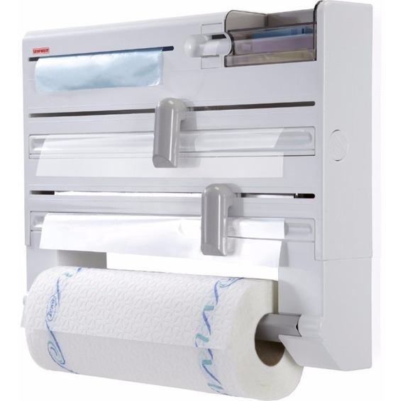Dispenser Portarrollo Cocina Papel Film Aluminio - Leifheit - Porta Rollo Plastico Pared - Hay Stock