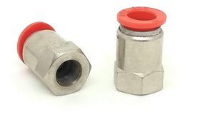 Conexão Pneumatica Reta Femea Tubo 10 Mm X Rosca 1/8 10 Unid