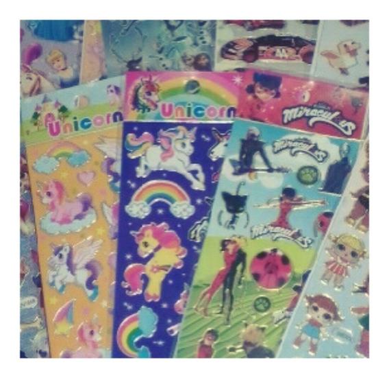 Kit Adesivos Infantis 120 Cartelas. Escolha Os Personagens