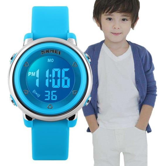 Relógio Digital Infantil 7 Cores Luz Skmei Esportivo Natação