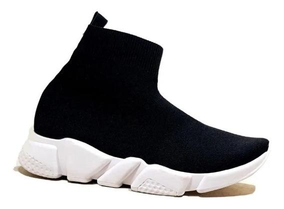 Zapatillas Mujer Elastizada Tipo Balenciaga Botita.