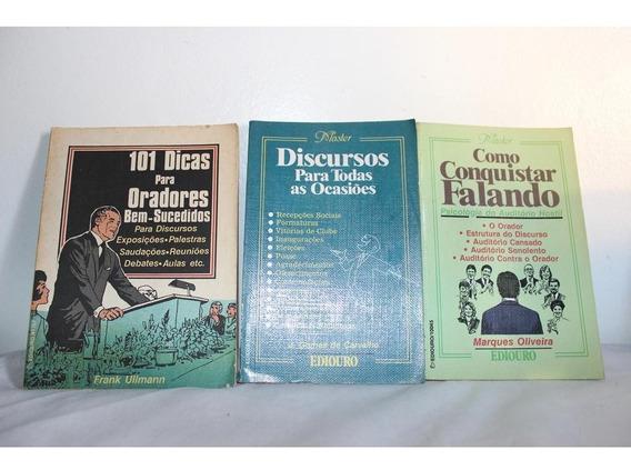 Oradores, Discursos, Palestras, Falas, Conjunto De 3 Livros.