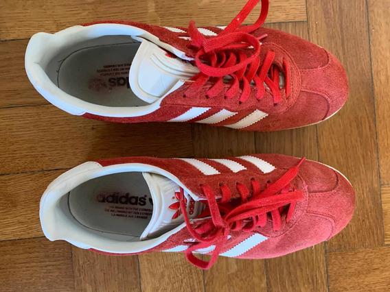 Zapatillas Originals Gazelle adidas Talle 40 Rojo/blanco