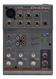 Phonic Mixer 1 Canal Mono 2 Estereo Consola Eq Am55