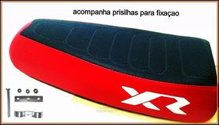 Banco De Mobilete,bike Xr Caloi Preto C/vermelho + Presilhas