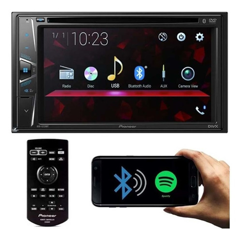 Imagem 1 de 5 de Multimídia Dvd Player 2 Din Pioneer Bluetooth 6.2 Pol