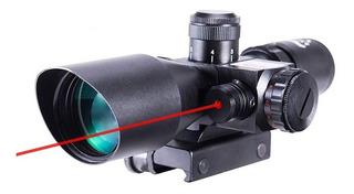 Luneta Scope Red Dot Laser 2.5x40 Mira Pressão Airsoft