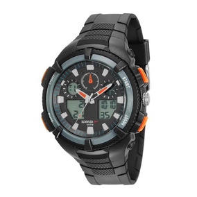 Relógio Speedo 81159g0evnp1 Pulso Digital Preto E Laranja