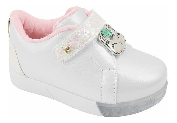 Pampili Tênis Infantil Baby Branco Gata 17 Ao 24 Verão 2020