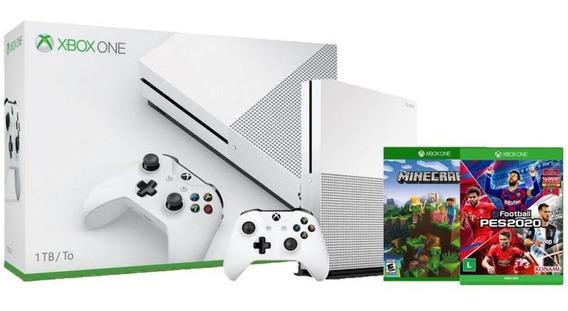 Xbox One S 1tb 4k Pes2020 Edição Especial + Minecraft Anatel
